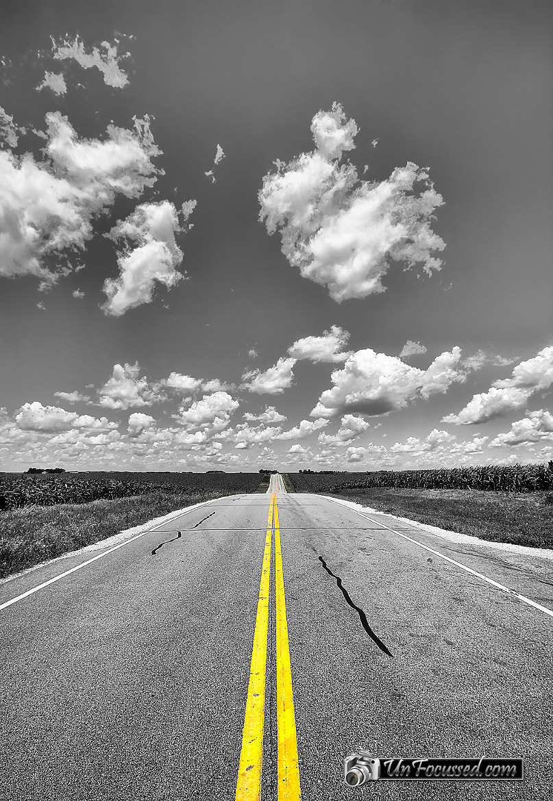 Photograph Down a Black and White Road by Bill Tiepelman on 500px