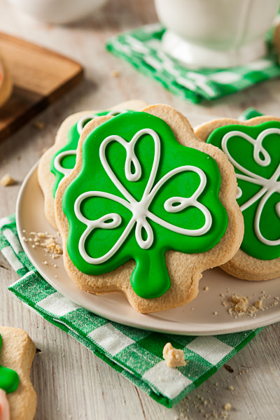 Green Clover St Patricks Day Cookies by Brent Hofacker on 500px.com