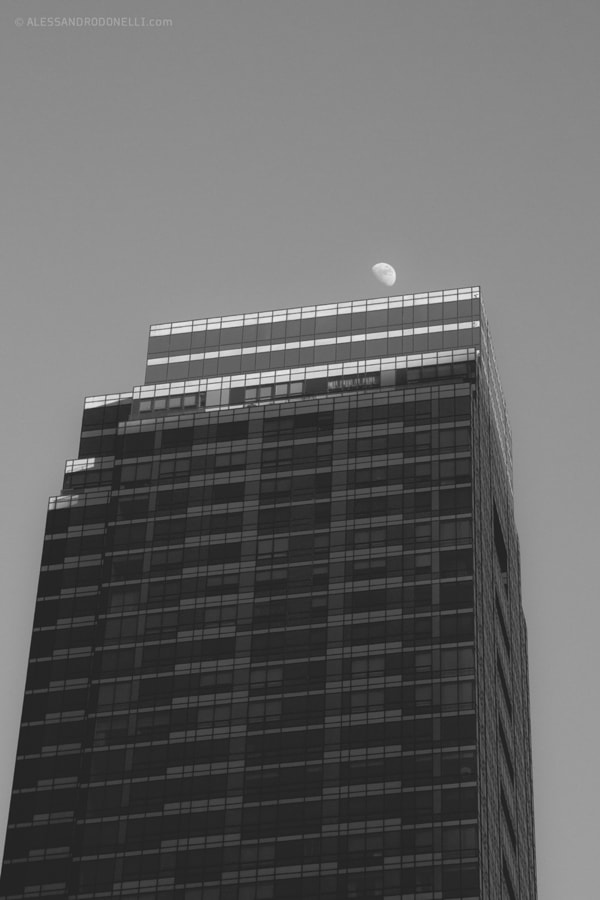 The Skyscraper and the Moon - New York City