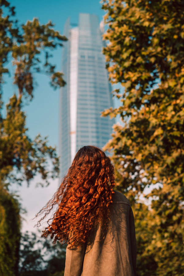 In front of the Sky Costanera building by Adriana Samanez on 500px.com