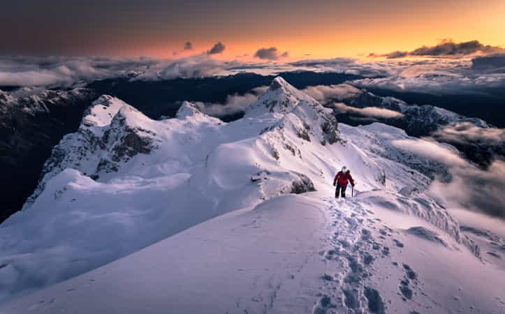 Greet the dawn in mountains by Sandi Bertoncelj