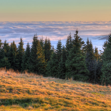 Nebelmeer schwappt gegen Erzgebirge / Sea of Fog Touches Ore Mountains