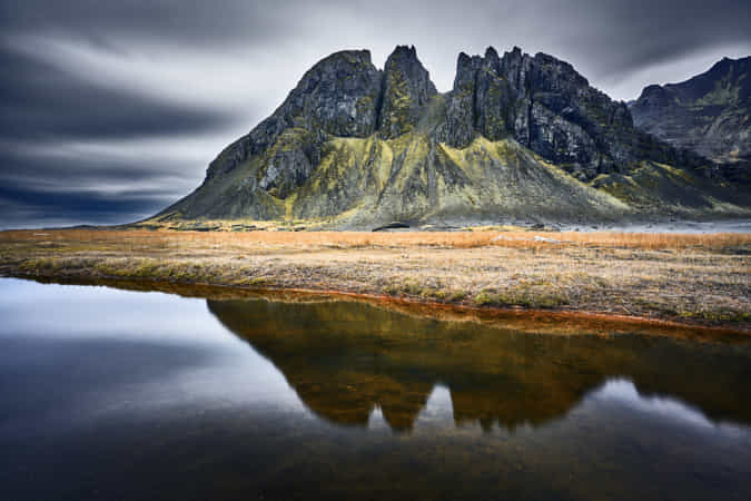 Batman mountain Iceland by Etienne Ruff