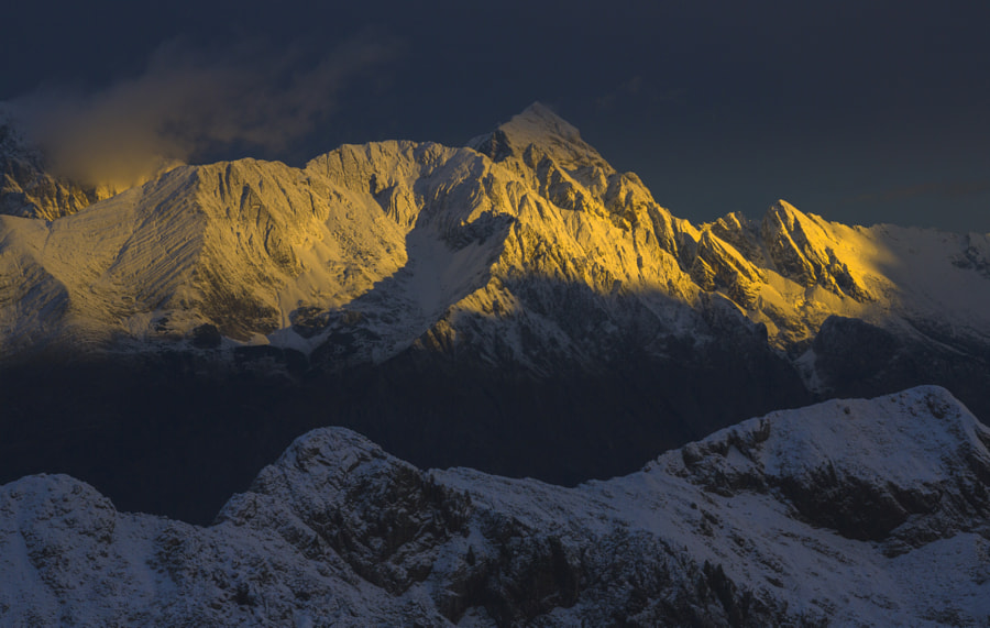 First Light and Snow in the Julian Alps by Jure Batagelj on 500px.com