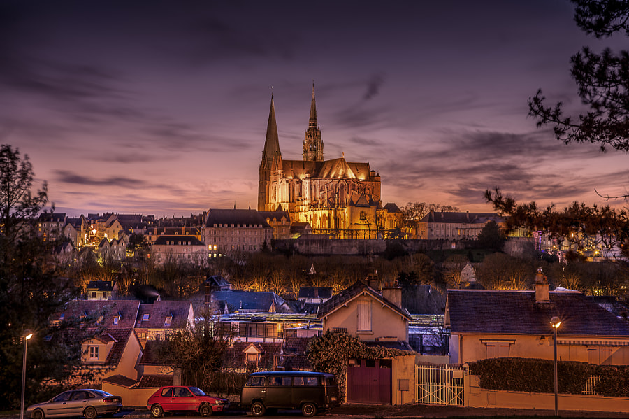 Photograph Sunset Chartres by Nicolas Wecandoit on 500px