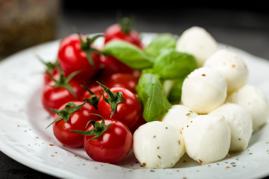 Tomato Mozzarella Basil by Christian Fischer on 500px.com