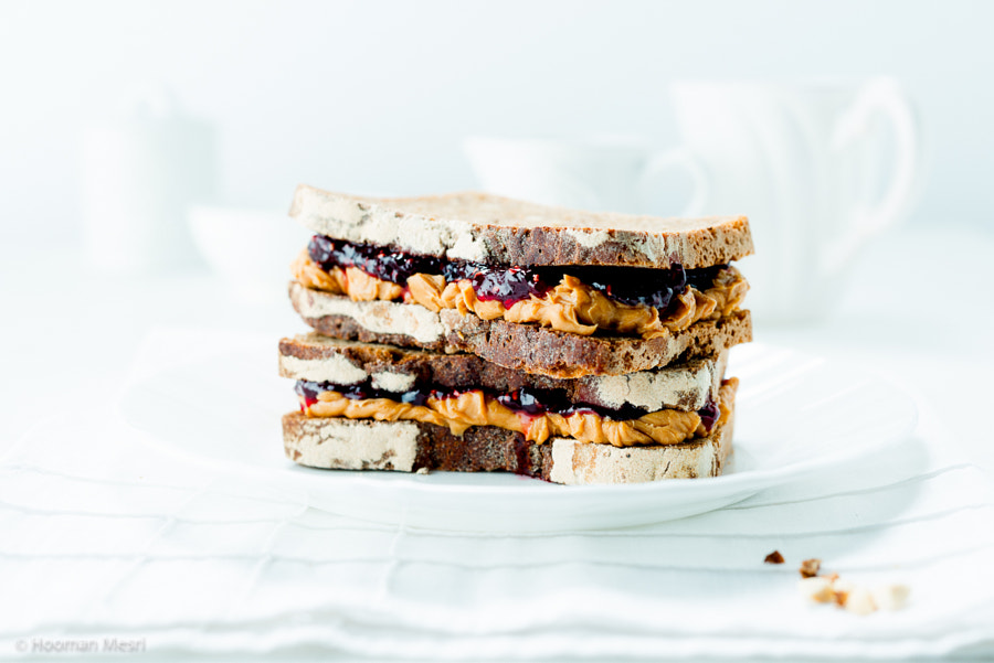 Peanut butter and raspberry jelly on rye by Hooman Mesri on 500px.com