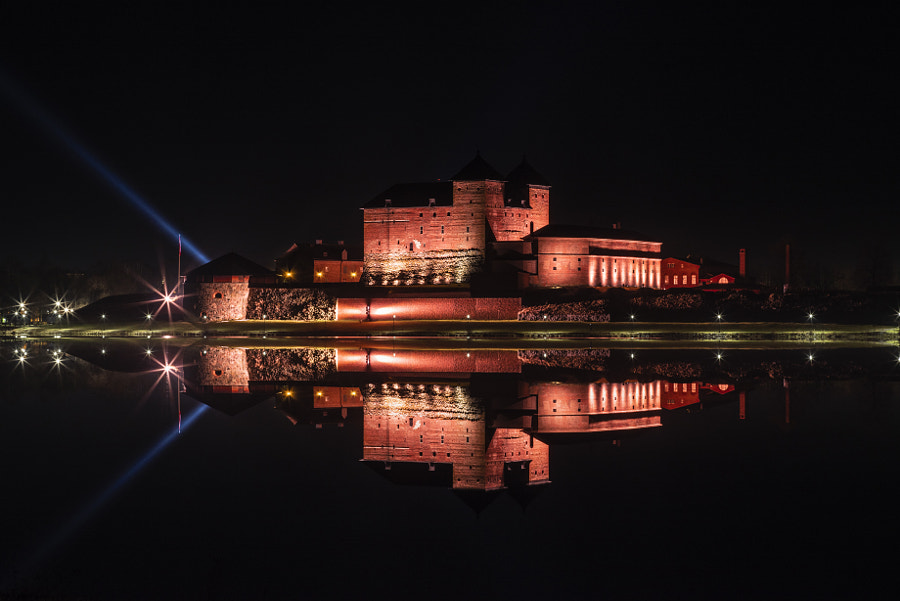 Hame Castle Festive Lighting - Fire by Markus Kauppinen on 500px.com