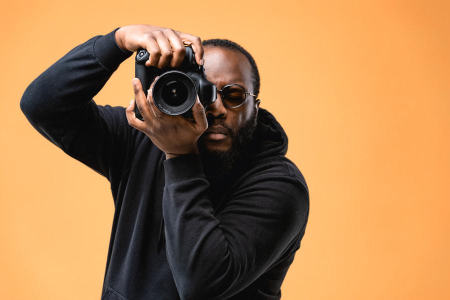 Portrait of beard African American professional photographer  by Alexander Shelegov on 500px.com