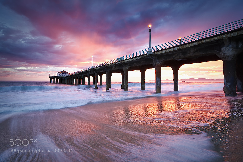 Photograph Summer Sunset Manhattan Beach Pier by Thomas Sebourn on 500px