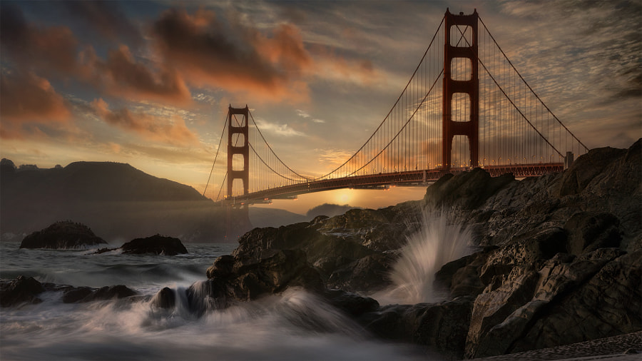 Clearing storm, Golden Gate Bridge  by Firefly Imaging  on 500px.com