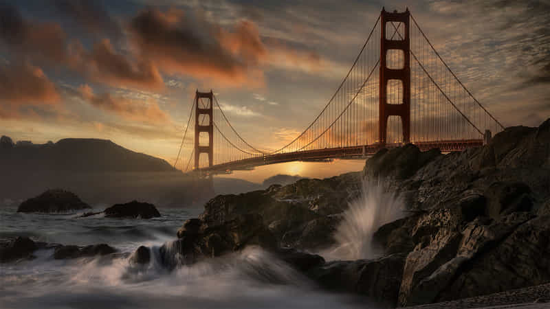 Clearing storm, Golden Gate Bridge  by Firefly Imaging