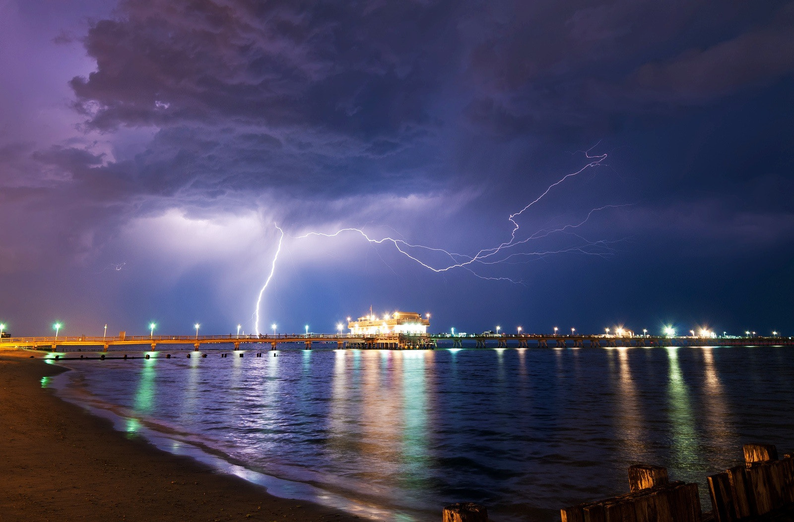Photograph Ocean View Lightning by Bill Dickinson on 500px
