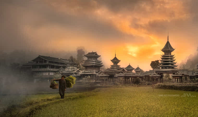 Ancient village in China by Daniel Metz