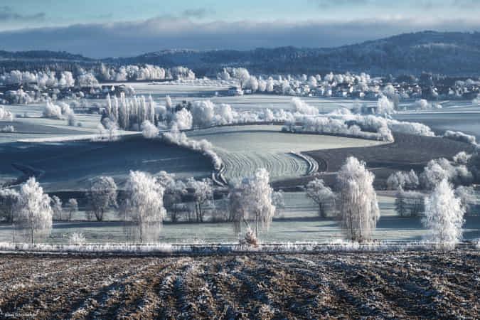 Frost Landscape by Kilian Schnberger