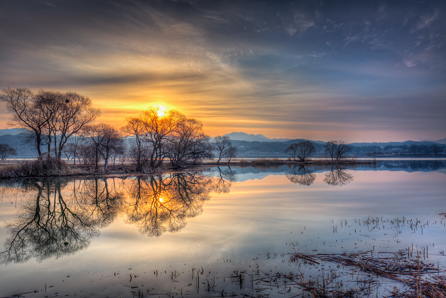 Sunrise Reflection by moonriver  on 500px.com