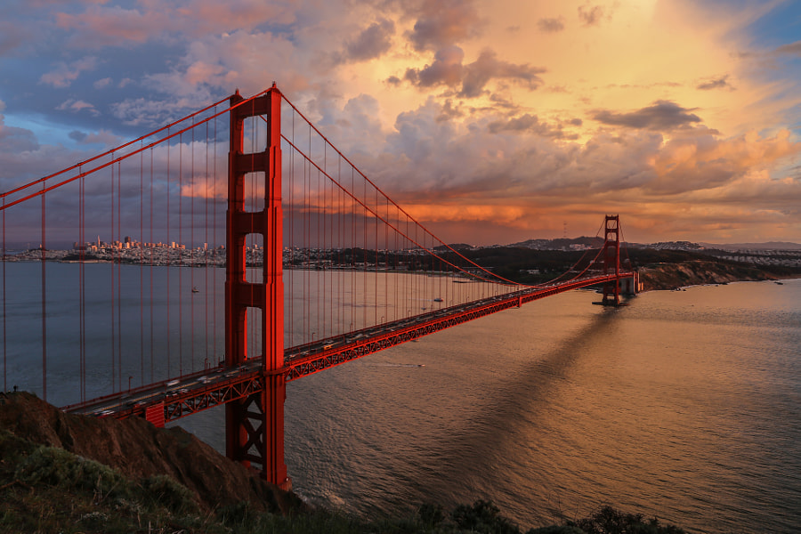 Photograph Golden Gate Bridge Sunset, San Francisco by davidcmc58 on 500px