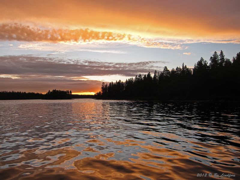 Photograph Sunset at the upper part of River Pite. by Bo Lindfors on 500px