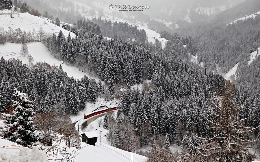 Schanfigg valley in winter by Phil Davson on 500px.com