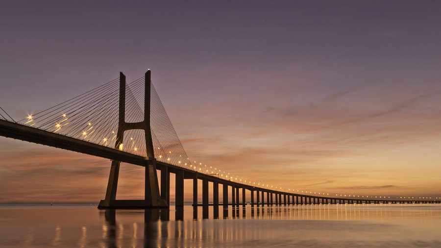 Vasco da Gama bridge by Ton Vernes on 500px.com