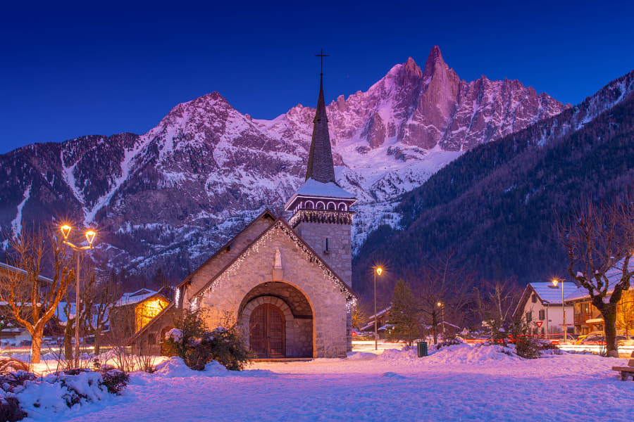 A Church in French Alps, Chamonix by John S on 500px.com