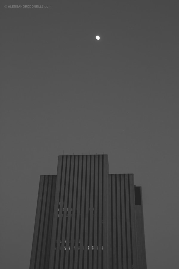 Skyscraper and the Moon