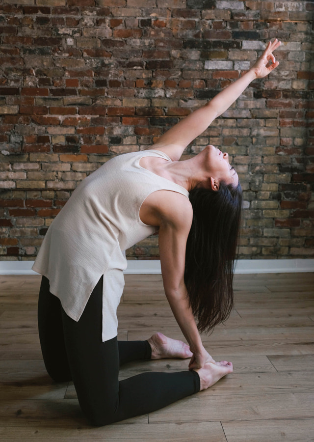 Young woman practicing yoga and self care,Elizabeth Vecchio by Rachel Meyer on 500px.com