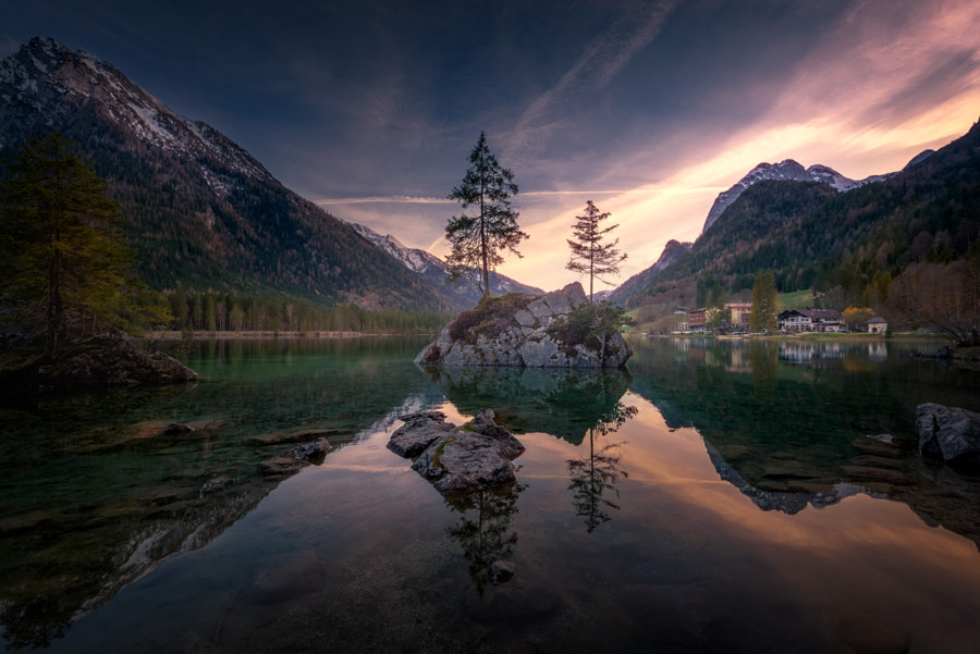 As the sun goes down at Hintersee by Sandeep Mathur on 500px.com