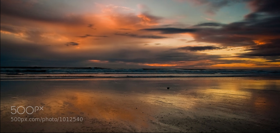 Dawn on the beach again.