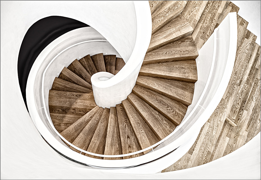 Spiral staircase in the Vitra House by Herbert  A. Franke on 500px.com