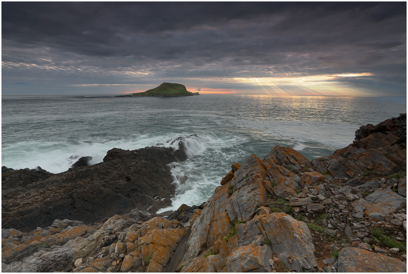 Photograph Rays over Rhossili by Alan Coles on 500px