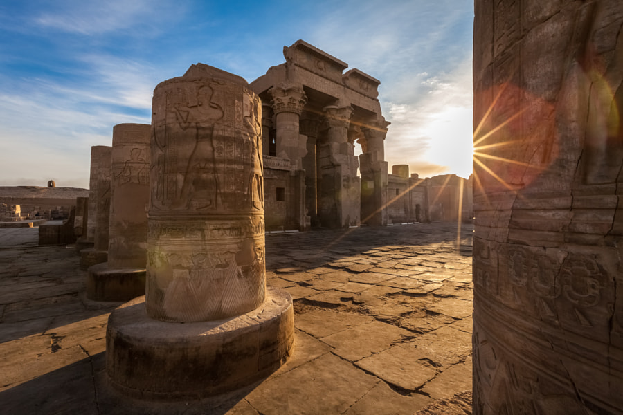 Sunrise at Kom Ombo Temple by Gilles Gaonach on 500px.com