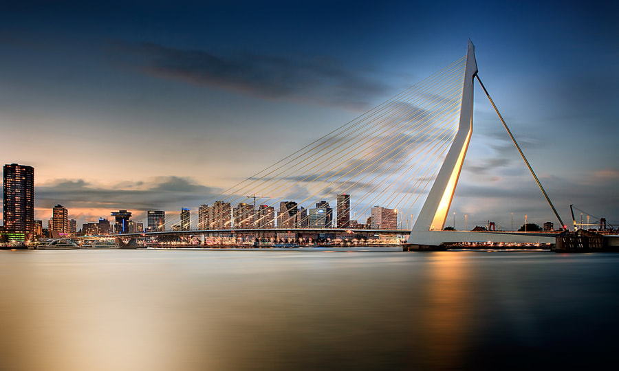 Erasmusbrug by Victor Carpentier on 500px.com