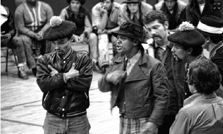 Photograph South Bronx gangs peace meeting 1971 by Andre Devaugn on 500px