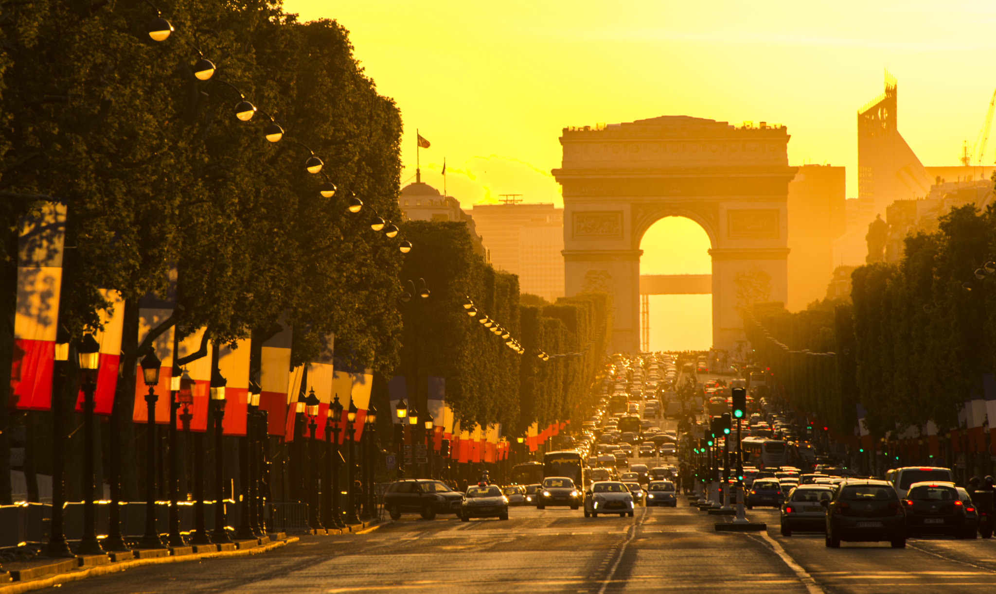 Photograph Sunset on the Champs Elysees Paris by Keith McInnes on 500px
