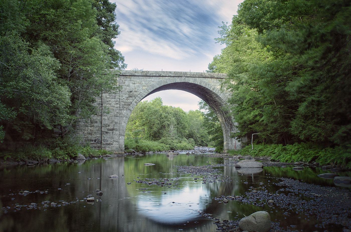 Photograph Cheshire Railroad Stone Arch Bridge by Jessica Hendelman on 500px
