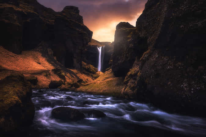 Dramatic Kvernufoss by Daniel Gastager