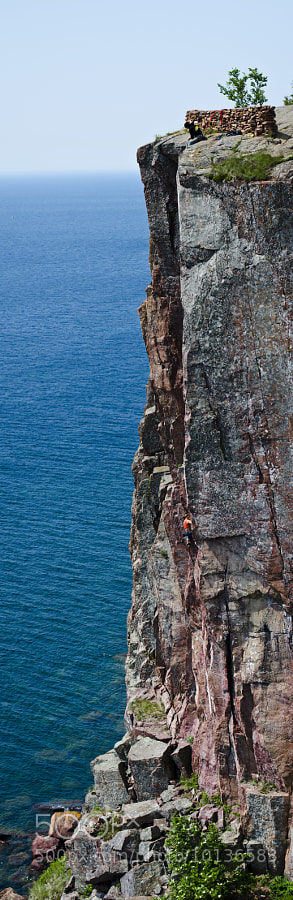 Went out for a day of shooting some climbers at Palisade Head on Lake Superior. 
