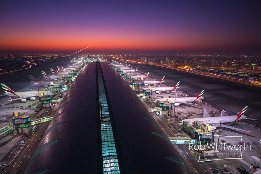 Photograph Airport - Dubai Flow Motion by Rob Whitworth on 500px