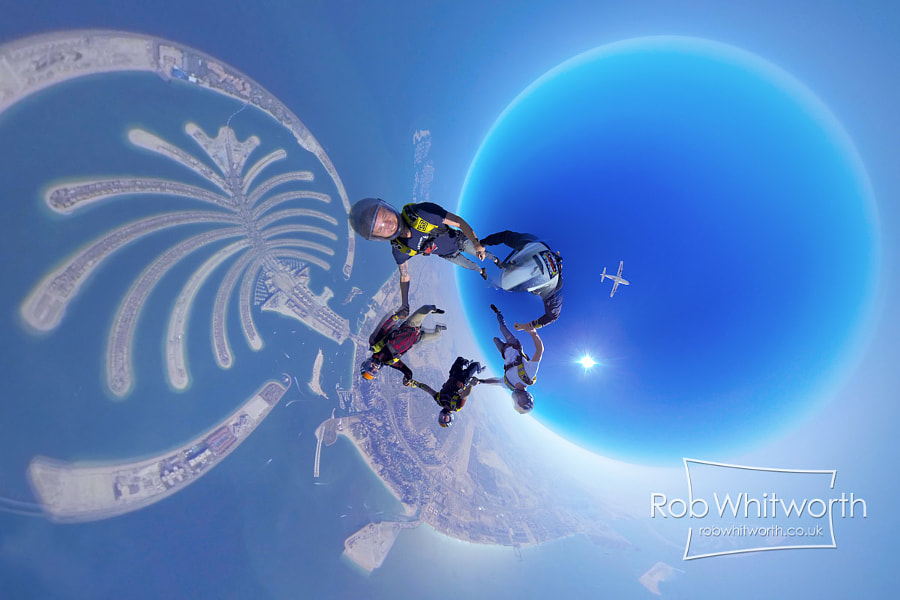 Photograph Skydive Dubai - Dubai Flow Motion by Rob Whitworth on 500px