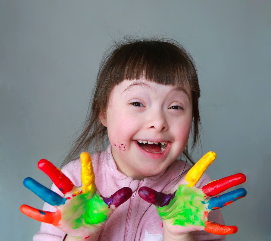 Cute little girl with painted hands. by Denys Kuvaiev on 500px.com