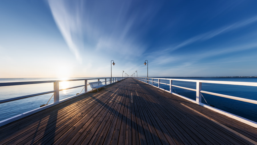 Gdynia Orłowo Pier by Peter Šároši on 500px.com