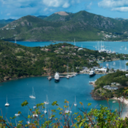 English Harbour, Antigua, Panorama