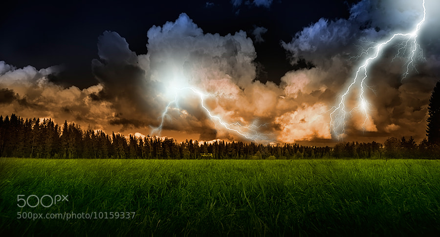 Photograph Stormy evening by Marek Czaja on 500px