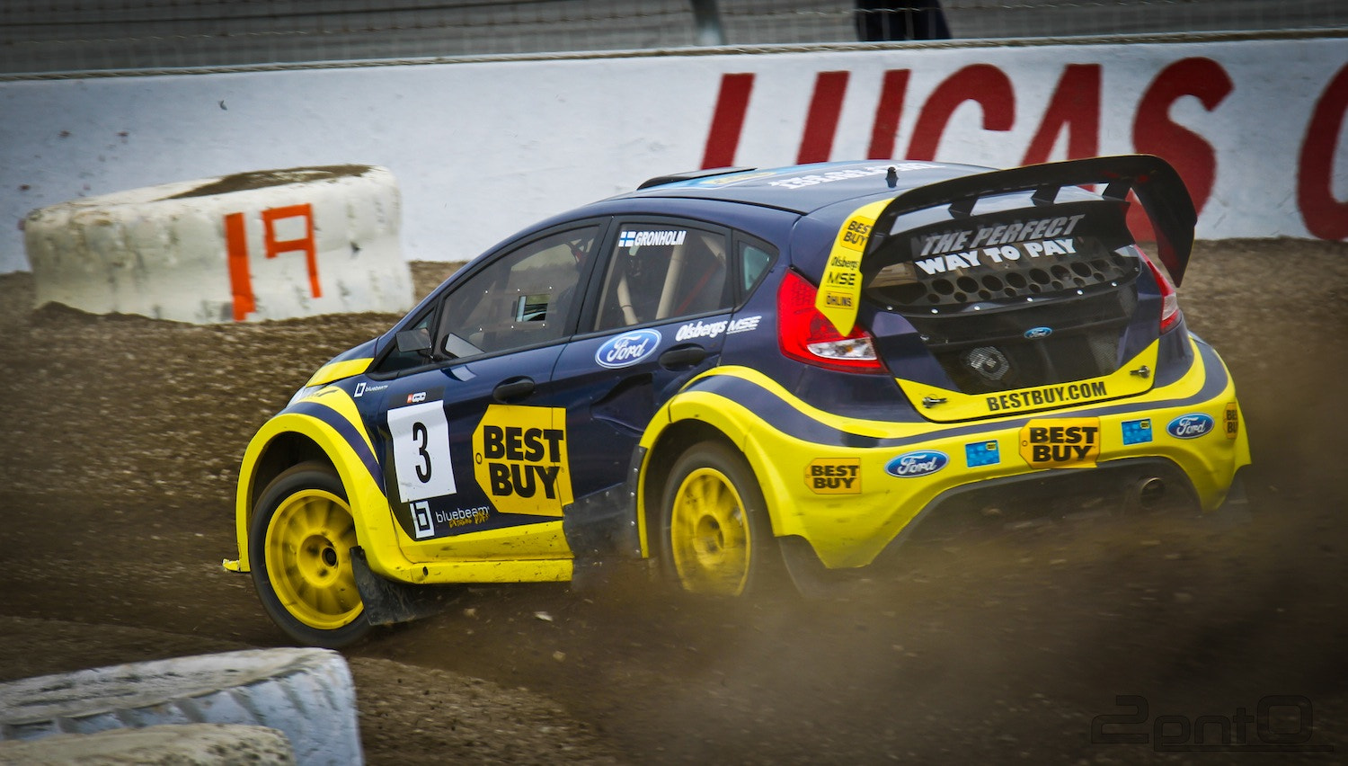 Photograph Marcus Grönholm in his Ford Fiesta at Global Rallycross: The Revolution by Alexandria Huff on 500px