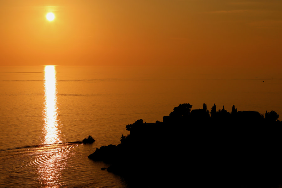 Sunset, Sveti Stefan, Montenegro by Fred H on 500px.com