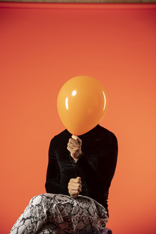 Trenton with the orange balloon by Ciaran Frame on 500px.com