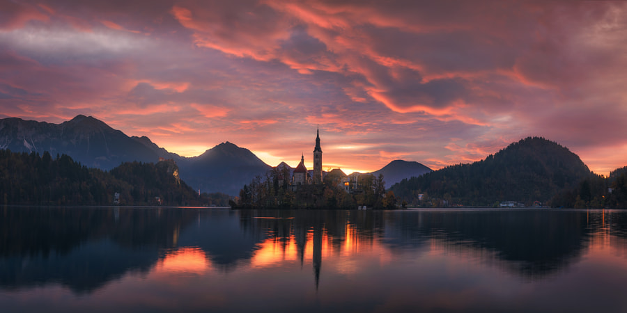 Burning Morning in Slovenia by Daniel Gastager on 500px.com