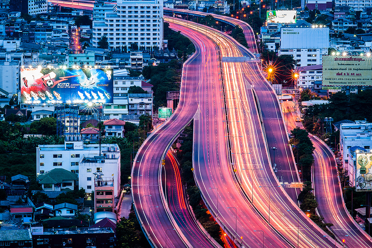 Photograph Lighttrail on Highway by Vorravut Thanareukchai on 500px