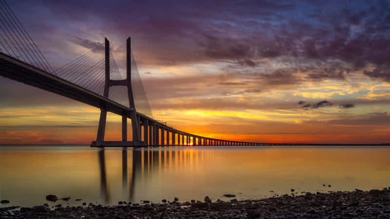 The Bridge at Sunrise by Paulo Miguel Costa